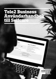 Tele2 Business Användarhandbok till Selfcare