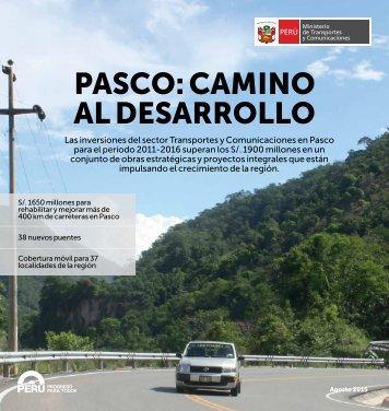 PASCO CAMINO AL DESARROLLO