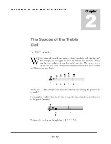 The Spaces of the Treble Clef