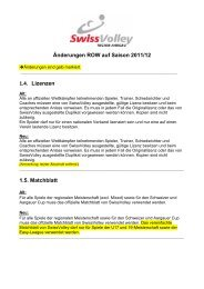 Änderungen ROW auf Saison 2011/12 1.4 Lizenzen 1.5 Matchblatt