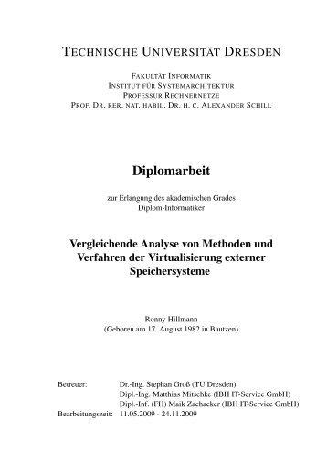 Vergleichende Analyse von Methoden und Verfahren der ...