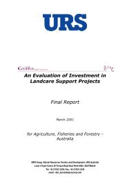 An Evaluation of Investment in Landcare Support Projects Final Report