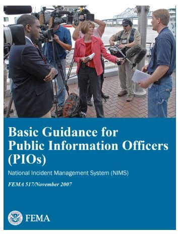 Basic Guidance for Public Information Officers (PIOs) - FEMA