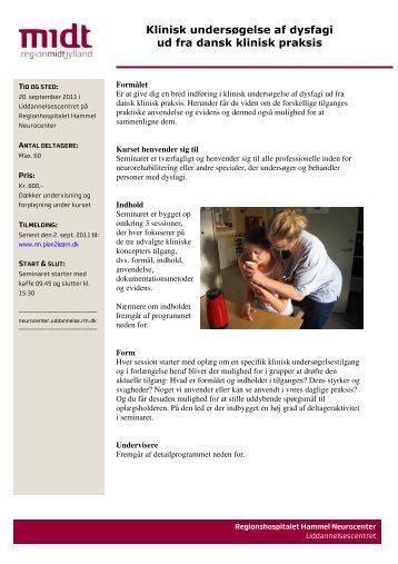 Klinisk undersøgelse af dysfagi ud fra dansk ... - Castillo Morales