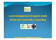 Local management of organic waste Home and community composting