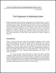 The Progression of Radicalized Islam