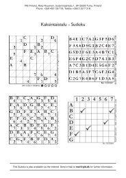 Kaksintaistelu - Sudoku