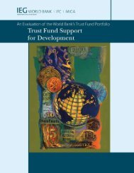 Trust Fund Support for Development: An Evaluation of - World Bank