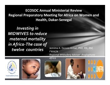 Investing in MIDWIVES to reduce maternal mortality in Africa-The ...