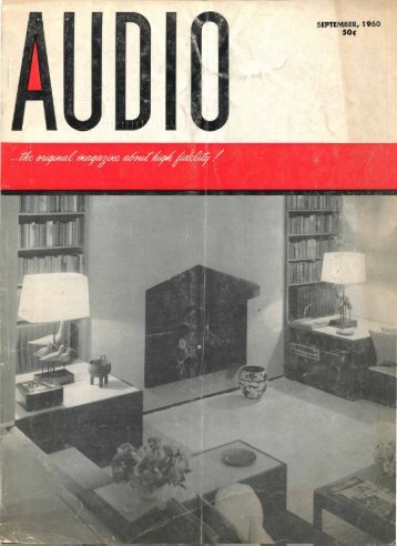 AUDIO MAGAZINE SEPTEMBER 1960 - Vintage Vacuum Audio