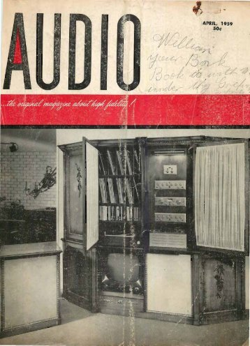 Audio magazine April 1959 - Vintage Vacuum Audio
