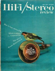 HiFi/Stereo Review May 1962 - Vintage Vacuum Audio
