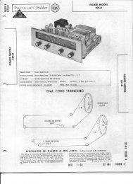 Fisher 101 R Tuner Manual & Schematics - Vintage Vacuum Audio