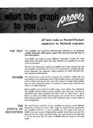 McIntosh - Amplifier Clinic Report Brochure - Vintage Vacuum Audio