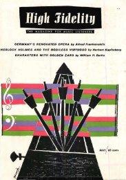 High Fidelity magazine May 1958 - Vintage Vacuum Audio