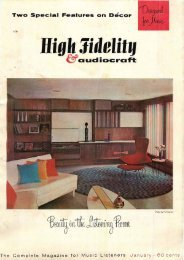 High Fidelity magazine January 1959 - Vintage Vacuum Audio