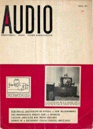 Audio magazine April 1957 - Vintage Vacuum Audio