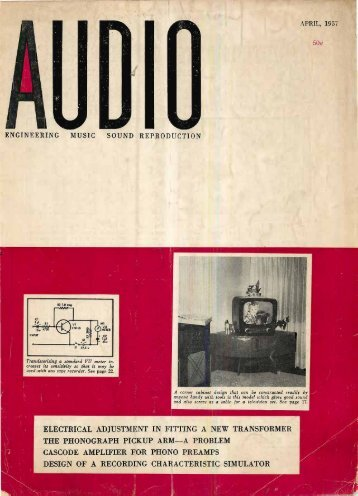 Audio magazine April 1957 - Vintage Vacuum Audio