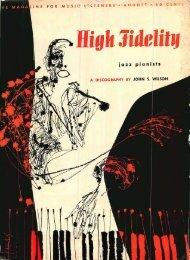 High Fidelity magazine August 1957 - Vintage Vacuum Audio