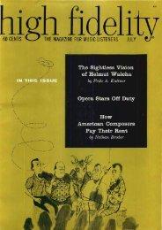 high Fidelity magazine July 1959 - Vintage Vacuum Audio