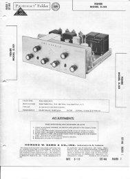 Fisher X 101 Amp Manual & Schematics - Vintage Vacuum Audio
