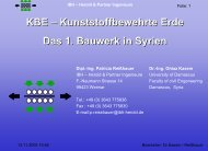 Dipl.-Ing. Patricia Reißhauer Dr.-Ing. Ghiaz Kasem - IBH - Herold + ...