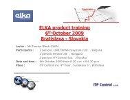 ELKA product training 6th October 2009 Bratislava - Slovakia Lector