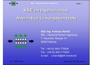 Herold & Partner Ingenieure Prinzipaufbau einer KBE