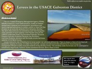 Levees in the USACE Galveston District