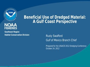Beneficial Use of Dredged Material A Gulf Coast Perspective