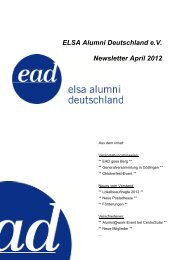 ELSA Alumni Deutschland e.V. Newsletter April 2012