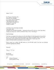 Addicks and Barker DSMR IEPR Report - Galveston District - U.S. ...