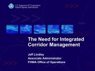 The Need for Integrated Corridor Management - Transportation ...