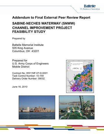 SABINE-NECHES WATERWAY (SNWW) CHANNEL IMPROVEMENT PROJECT FEASIBILITY STUDY