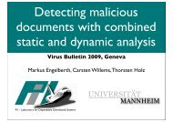 Detecting malicious documents with combined static ... - Virus Bulletin