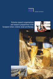 Fisheries research organisations and research programmes in the ...