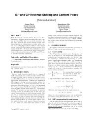8. ISP and CP Revenue Sharing and Content Piracy - NetEcon