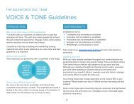 VOICE & TONE Guidelines