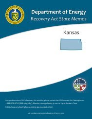 Kansas Recovery Act State Memo - U.S. Department of Energy