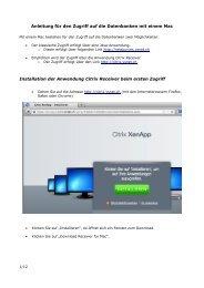 Anleitung für den Zugriff auf die Datenbanken mit einem ... - VSnet