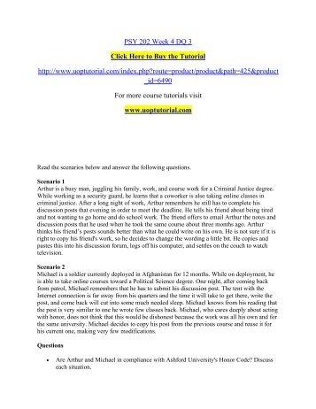 PSY 202 Week 4 DQ 3/ Uoptutorial