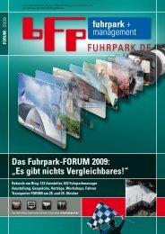 """Das Fuhrpark-FORUM 2009: """"Es gibt nichts ... - fuhrpark.de"""