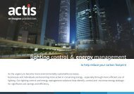 Lighting Control and Energy Management