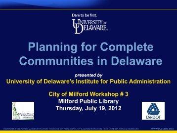 Communities in Delaware