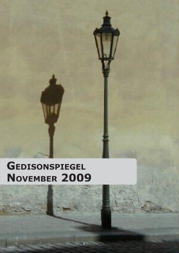 Gedisonspiegel November 2009