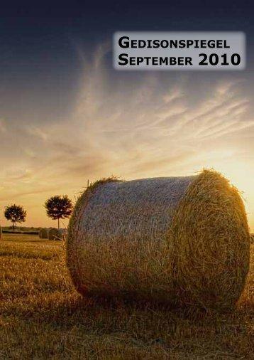 Gedisonspiegel September 2010