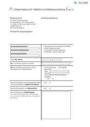 Schadenmeldung Kfz-Haftpflicht und Vollkaskoversicherung Seite 1/3