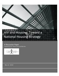 HIV and Housing: Toward a National Housing Strategy