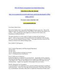 PSY 303 Week 2 Assignment Case Study Robert Jones/ Uoptutorial