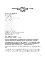1 MINUTES WYOMING STATE TRAILS ADVISORY COUNCIL ...